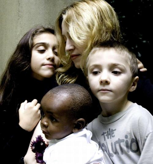 Madonna and kids in happier times.