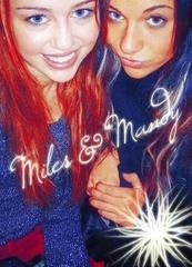 Miley and Mandy (Miley's BFF - photo from Mandy's Myspace Page)